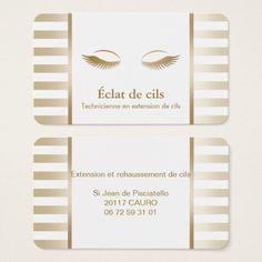Carte De Visite Rayures Chics Dor Maquilleur Dextension