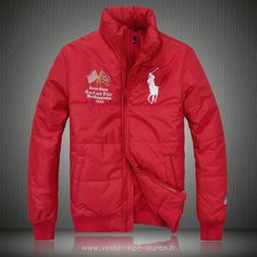 Polo officiel - Ralph Lauren doudoune manteau hommes 2013 classic big pony  drapeau national usa rouge Doudoune Homme Polo Ralph Lauren f9fc3ecc426