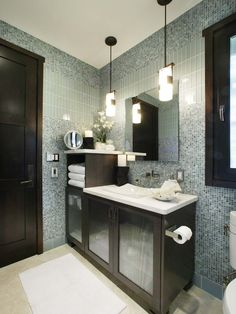 Bathroom Design, Pictures, Remodel, Decor and Ideas - page 52-vanity and shelves, but have shelves go all the way up to ceiling