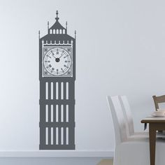 Style and Apply Big Ben Wall Clock Wall Decal Color: Brown