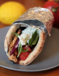 Vegetarian Gyros, though I can't find the faux chicken breast here in Germany, I will save this recipe for when I head back to the States.