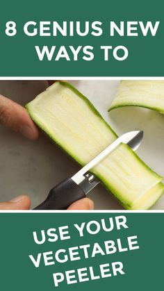 8 genius new ways to use your vegetable peeler Eat To Live Diet, Cooking Tips, Cooking Recipes, Vegetarian Recipes, Healthy Recipes, Most Nutritious Foods, Frugal Meals, Eating Raw, Food Facts