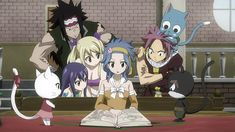 Carla || Redfox Gajeel || Marvell Wendy || Heartfilia Lucy || McGarden Levy || Dragneel Natsu || Happy || Panther Lily || Fairy Tail