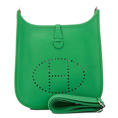 Hermes Blue Saint Cyr Evelyne TPM of clemence leather with ...