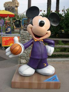 """""""Dunk Mouse"""" by Shaquille O'Neal.  Celebrate Mickey:  75 years of Mickey InspEARations.  At Disney California Adventure 2005."""