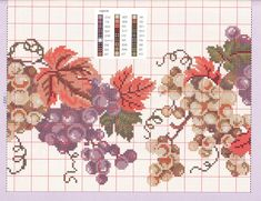 Cross Stitch Fruit, Needlework, Vintage World Maps, Diagram, Diy Crafts, Flowers, Blog, Art, Cross Stitch