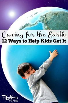 There are many ways to teach children to care for the Earth. Here are 12 simple ways to help your family live in a greener world now, and into the future. Great article to celebrate Earth Day every day! Earth Day Activities, Learning Activities, Activities For Kids, Childcare Activities, Nature Activities, Activity Ideas, Teaching Kids, Kids Learning, Musik Player