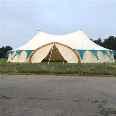 Amazing wedding tent from Curious Tent company ready to be filled with our lovely mismatch chairs and crockery....