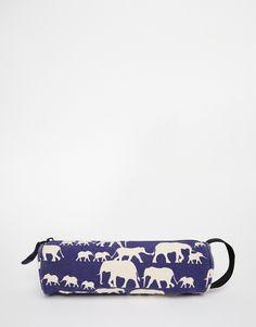 Изображение 1 из Синий пенал с принтом слонов Mi-Pac