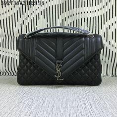 2016 F/W YSL Large Monogram Satchel in Black Matelassé Leather Louis Vuitton Handbags Crossbody, Ysl Handbags, Handbags On Sale, Luxury Handbags, Sac Yves Saint Laurent, Saint Laurent Handbags, Ysl Bag, Chanel Boy Bag, Satchel
