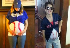 Things That Go Bump In The Night: Best Pregnant Halloween Costumes | Baseball Player | The Baby Post