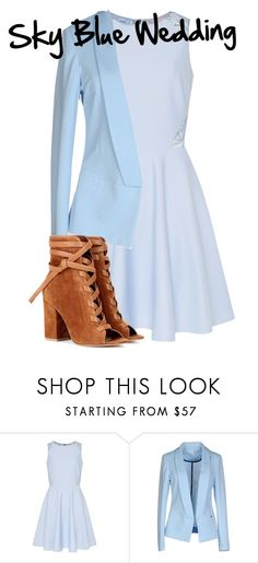 """Sky Blue Wedding"" by avalienho on Polyvore featuring Ted Baker, Giorgia & Johns, Gianvito Rossi, interview, Blue, Elegant and blessed"