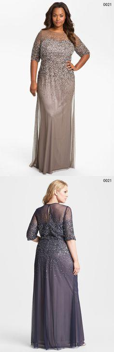 Black Plus Size Lace Long Sleeve Sheath Chiffon Evening Dresses V ...