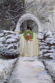 Winter Gate - simple and very pretty