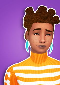 The Sims 4   ddeathflower Orangesimosas' Bantu Knots Hairstyle in Pixelswirl's Pooklet Overhaul colors   natural hairs for female adult