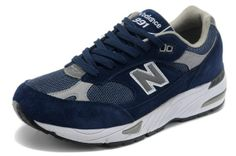 hot sale online 94f09 b6080 New Balance 991 ING Mens Trainers Navy