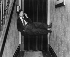 Buster Keaton on the phone.
