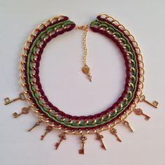 """Necklace """"Golden keys""""/ одерелье """"Золотые ключики"""""""