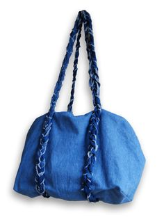 denim bag with braided straps (no instructions but could figure it out)