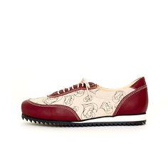 Olive Sneaker, Love Print, Burgundy by Terhi Pölkki