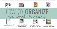 How to Organize an eBook Library | Organizing eBooks