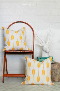 Easy DIY Stenciled Pillow tutorial! Any pattern any color you want. Perfect for matching your home decor.