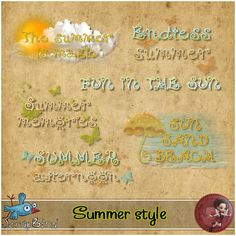 Summer style word art by Scrap'Angie