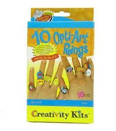Art rings from Creativity Kits $4.49