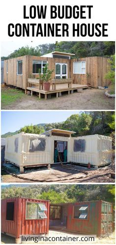 Trying to find a different way of life without being indebted, the couple embarked on an adventure to build a house in Cape Town using a shipping container.    #shippingcontainerhomes  #containerhomes  #storagecontainerhomes  #containerhouse  #shippingcontainerhouse  #shippingcontainercabin  #containerhousedesign  #containerhouseplans  #containerhousedesigninterior  #containerhomefloorplans Sea Containers, Cargo Container Homes, Casas Containers, Building A Container Home, Container Buildings, Shipping Container Home Designs, Small Home Offices, Tiny House Plans, Tiny House Design