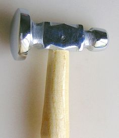 If you don't know what to look for, it is easy to think that all chasing hammers are the same, but they're not - this is a superior hammer!A few tips:1) This hammer is for flattening wire and hammering a texture into metal - it is not a good choice for stamping, since the shanks of the stamp will mar the polish. For stamping, just use a flat, heavy (12 oz+) hammer.2) When using a chasing hammer, think of the hammer as an extension of your arm. You want to strike the anvil/block with a the…