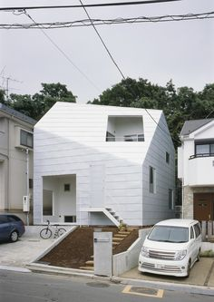 House Exterior The Fascination of White Minimalism: House With Gardens in Japan