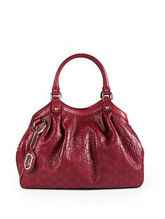 Gucci - Sukey Guccissima Medium Top-Handle Bag (love the red and the black)