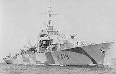 Career (Canada) Name: HMCS Kokanee Namesake: Kokanee Lake Builder… Canadian History, Us History, Dazzle Camouflage, Royal Canadian Navy, Navy Day, Electric Boat, Cabin Cruiser, Navy Ships, Military Weapons