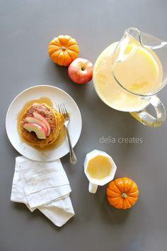 Pumpkin Apple Pancake Recipe (Vegan) - delia creates