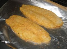 Baked Parmesan Fish - good with any whitefish or catfish
