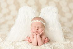 White Feather Angel Wings Newborn Baby Toddler Photo Prop | Beautiful Photo Props