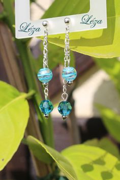 Html, Swarovski, Drop Earrings, Boutique, Jewelry, Fashion, Crystal, Shades Of Blue, Murano Glass