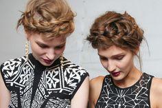 Nicole Miller Spring 2014 slept-in braids