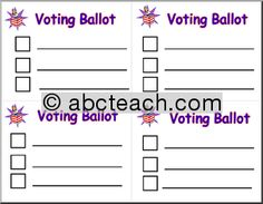 Voting Ballot Template