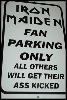 Iron Maiden Fan Parking