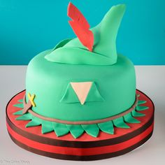 Peter Pan Birthday Cake Bolo de aniversário do Peter Pan