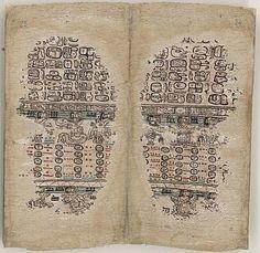 Paris Codex,   Codex Peresianus, Codex Pérez Typecodex DatePostclassic period (c. AD 900-1521) Place of originYucatán, Mexico Language(s)Maya Materialbark paper[1] Size140 by 23.5 centimetres (55.1 by 9.3 in) Formatscreenfold book Conditionbadly damaged ScriptMaya script Contentsritual almanacs and calendrical information Discovered1859 in the Bibliothèque Imperiale