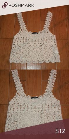 Spotted while shopping on Poshmark: Sale Cream crochet top size small crop top! #poshmark #fashion #shopping #style #Tops