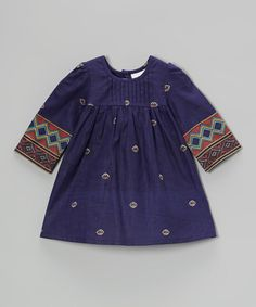 This Blue & Orange Geometric Dress - Infant by Yo Baby is perfect! #zulilyfinds
