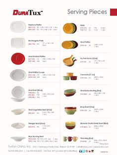 Serving Pieces Collection from DuraTux by Tuxton China