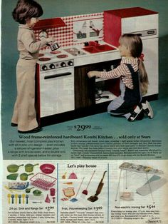 b2aa3b44bed4 70 s Kombi Kitchen set from Sears. This is the one we had this one growing