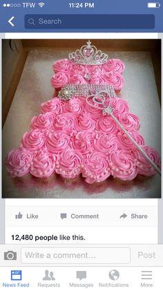 Girls Princess themed Birthday cupcakes