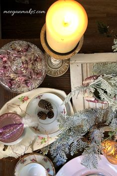 Christmas Tablescape in Pink and Gold - What Meegan Makes What Is Christmas, Family Christmas, Beautiful Christmas, Christmas Holidays, Merry Christmas, Christmas Party Table, Christmas Tablescapes, Christmas Centerpieces, Christmas Decorations
