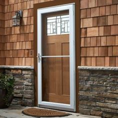 Screen door protector screen doors and screens on pinterest for Home depot exterior doors canada