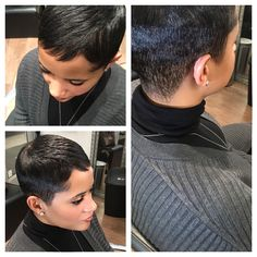 Hair by Teresa Gray Dont Play ext 2 Short Sassy Hair, Short Hair Cuts, Short Hair Styles, Pixie Cuts, Short Pixie, Short Relaxed Hairstyles, Black Women Short Hairstyles, My Hairstyle, Girl Hairstyles